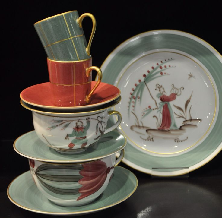Hand-painted French Porcelain by Marie Daage.