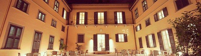 Visão panorâmica da Villa Campari, restaurante de espaço de eventos da marca.