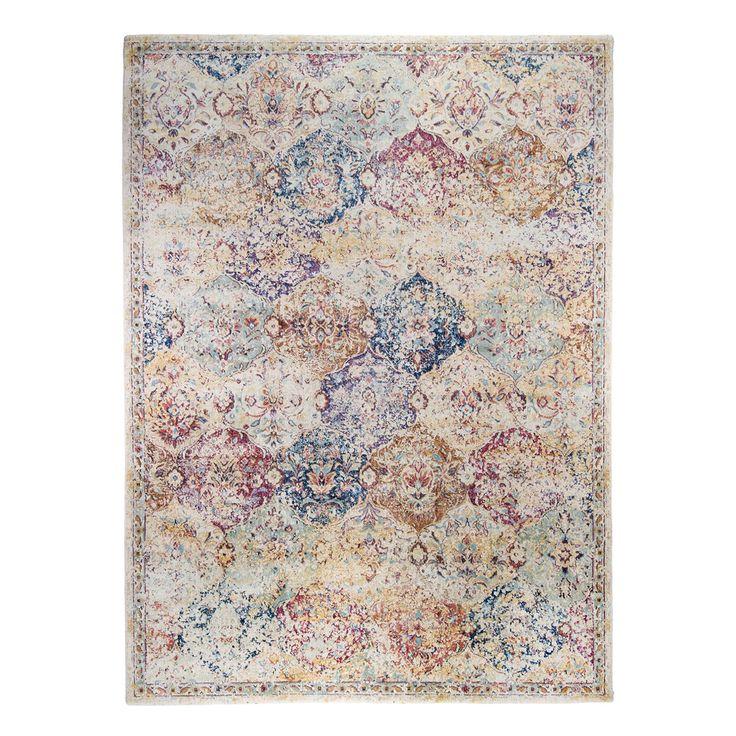 Teppich Dagda - Kunstfaser - Beige /Lila - 160 x 230 cm, Jack and Alice