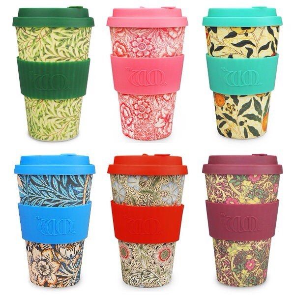 So which is your favourite William Morris design?! #ecoffee #ecoffeecup #sustainable #reusable #travelcup #coffeecup #design #williammorris