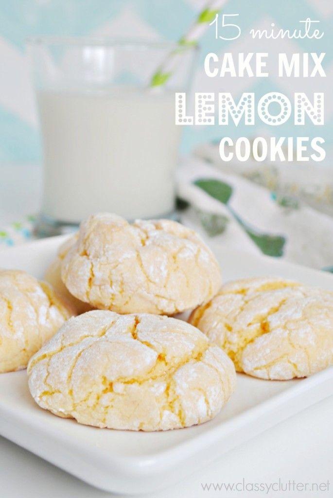 Lemon, Cake Mix, Cookies