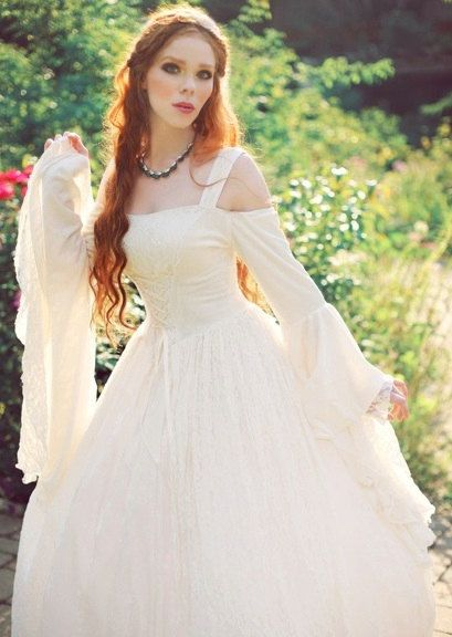 Gwendolyn Medieval or Renaissance Wedding Gown by RomanticThreads