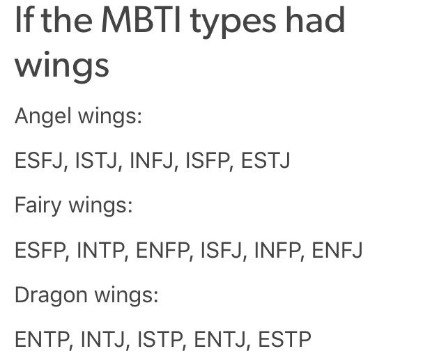 INTJ.... Yes!!! Although fairy wings would be cool too!