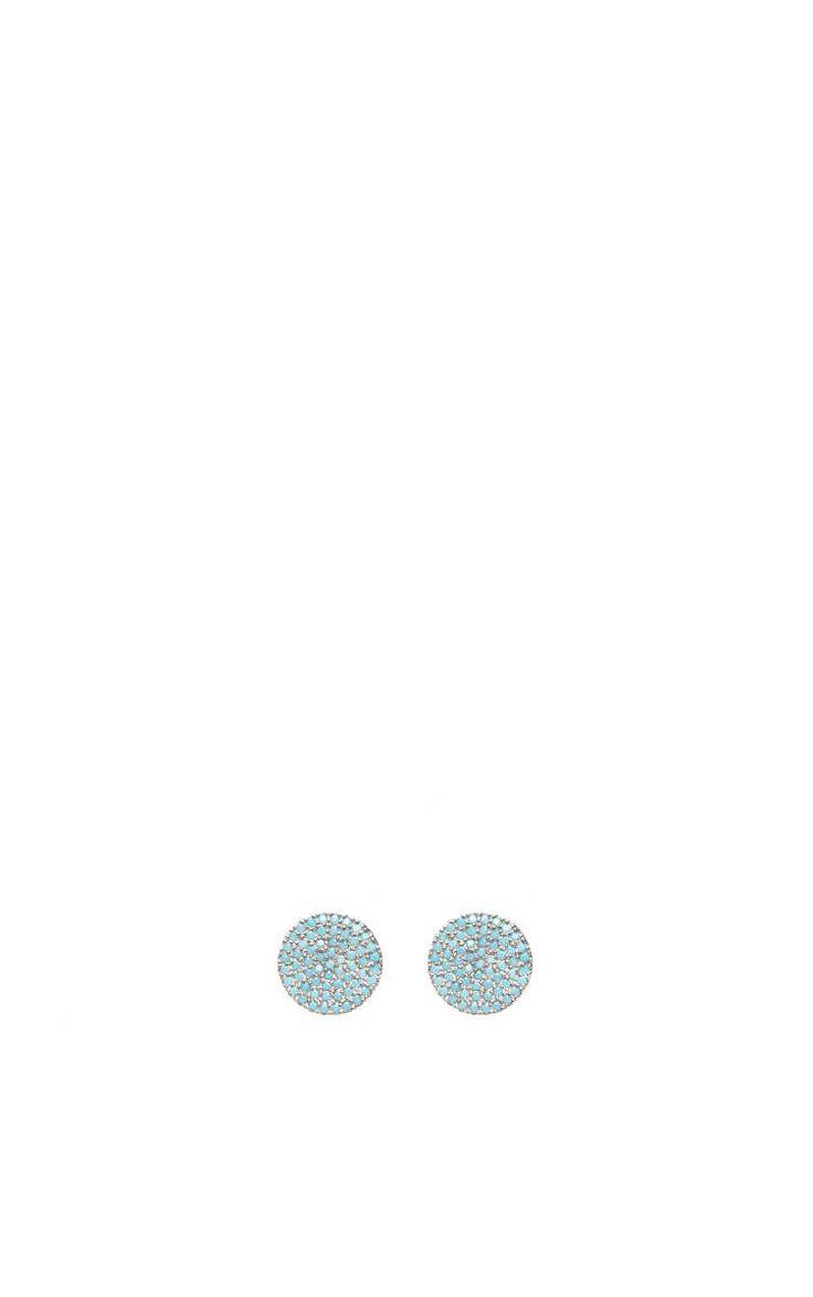 Örhänge Shine Disc Large SILVER/BLUE - KumKum - Designers - Raglady