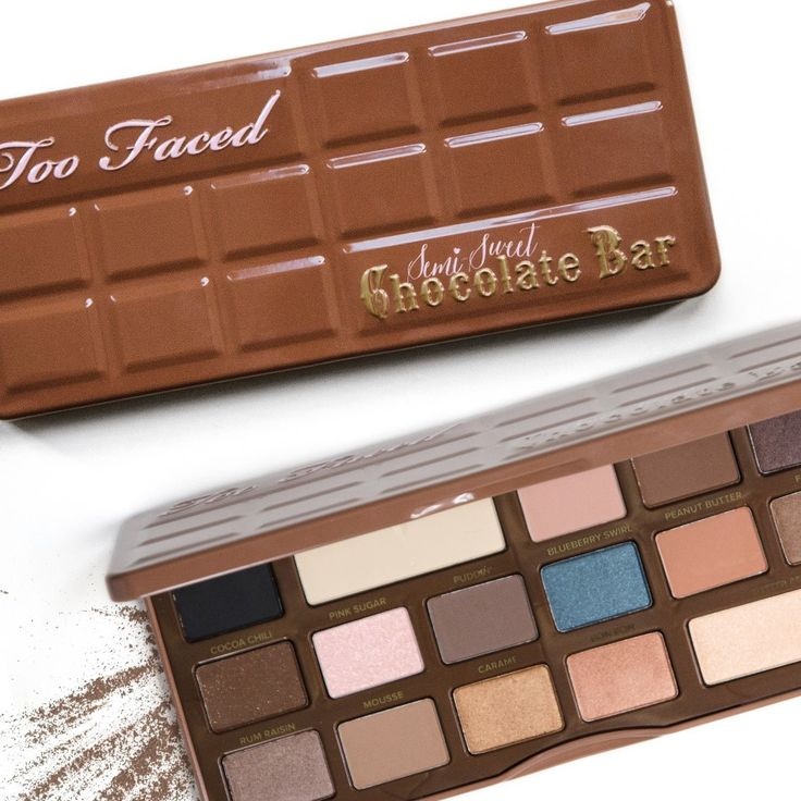 #VIBs! If you liked the bestselling Too Faced Cosmetics Chocolate Bar palette, you'll love the Semi-Sweet edition. It's a deeper, warmer version of the original>