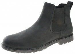 Red Tape Carey Black Slip On  Chelsea, Ankle Boots Pull On casual Mens Leather - £26.99