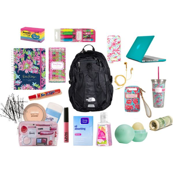 """""""My Backpack Essentials"""" by sweet-southern-accent on Polyvore"""