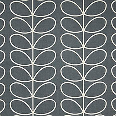 Orla Kiely Cool Grey Linear Stem Fabric | Dunelm