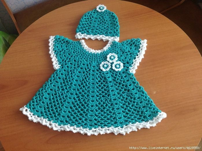 875 best vestidos niñas crochet images on Pinterest | Vestidos niña ...