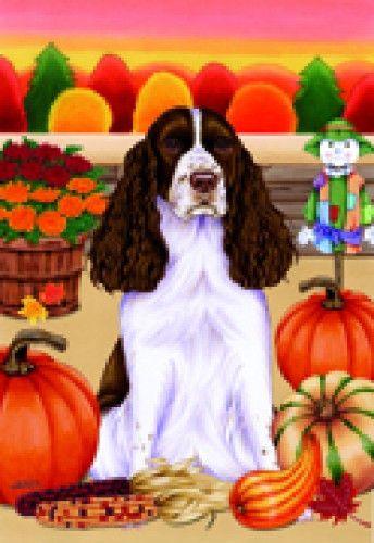 Garden Indoor/Outdoor Autumn Flag - English Springer Spaniel (TP) 670801 in Collectibles, Animals, Dogs | eBay!