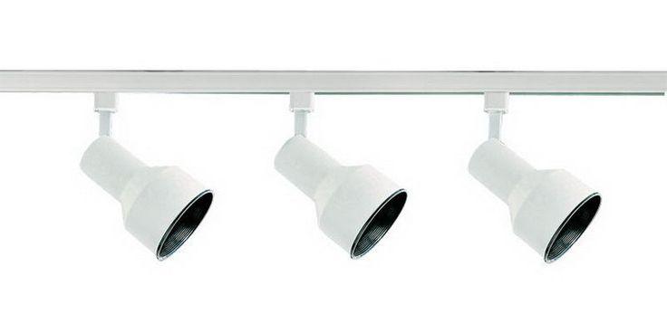 White 3 Light 75 Watt Step Cylinder Heads Track Kit #DesignersFountain #Transitional #CeilingFixtures