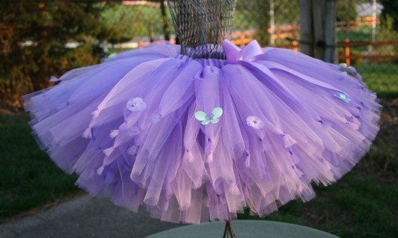 a Purple tied tutu - for a Princess