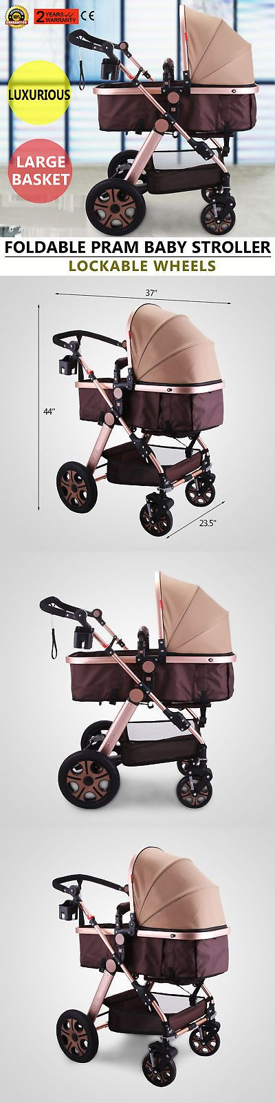 Other Stroller Accessories 180917: Foldable Newborn Baby Stroller Buggy Pram Pushchair Carriage Infant Travel Car -> BUY IT NOW ONLY: $137.83 on eBay!