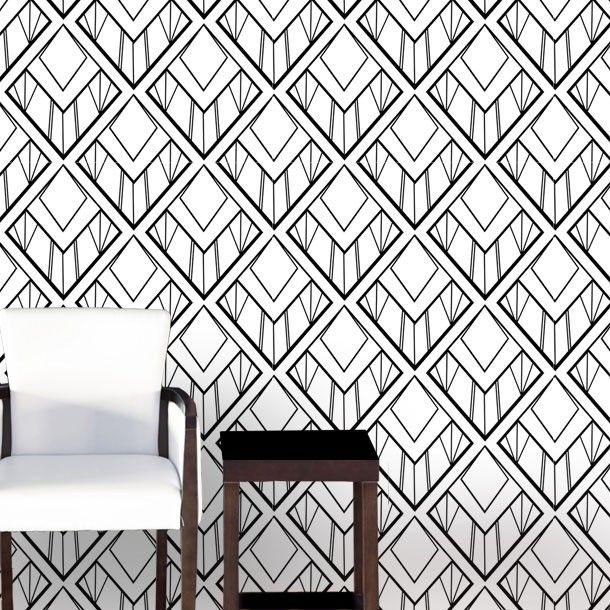 Art Deco Wallpaper – Diamond Cut | Shilou Furniture