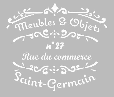 Pochoir Adhésif 25 x 20 cm AFFICHE MEUBLES & OBJETS