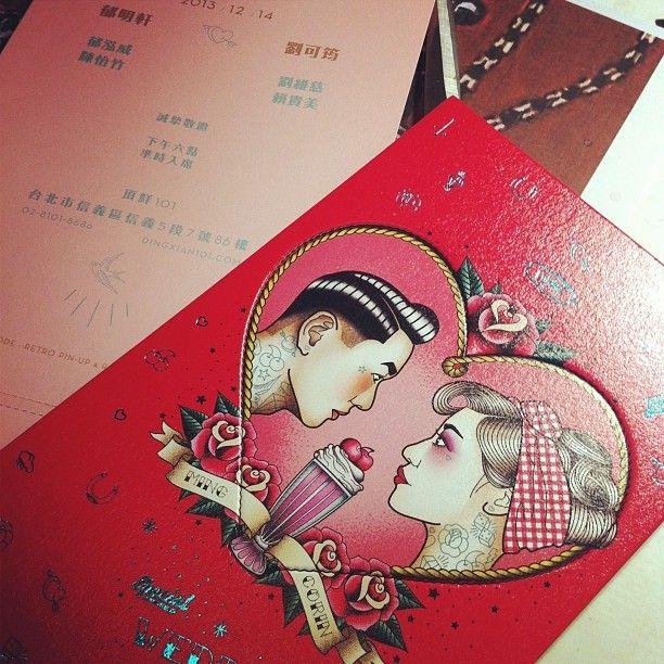 Rockabilly Wedding Invitation Card
