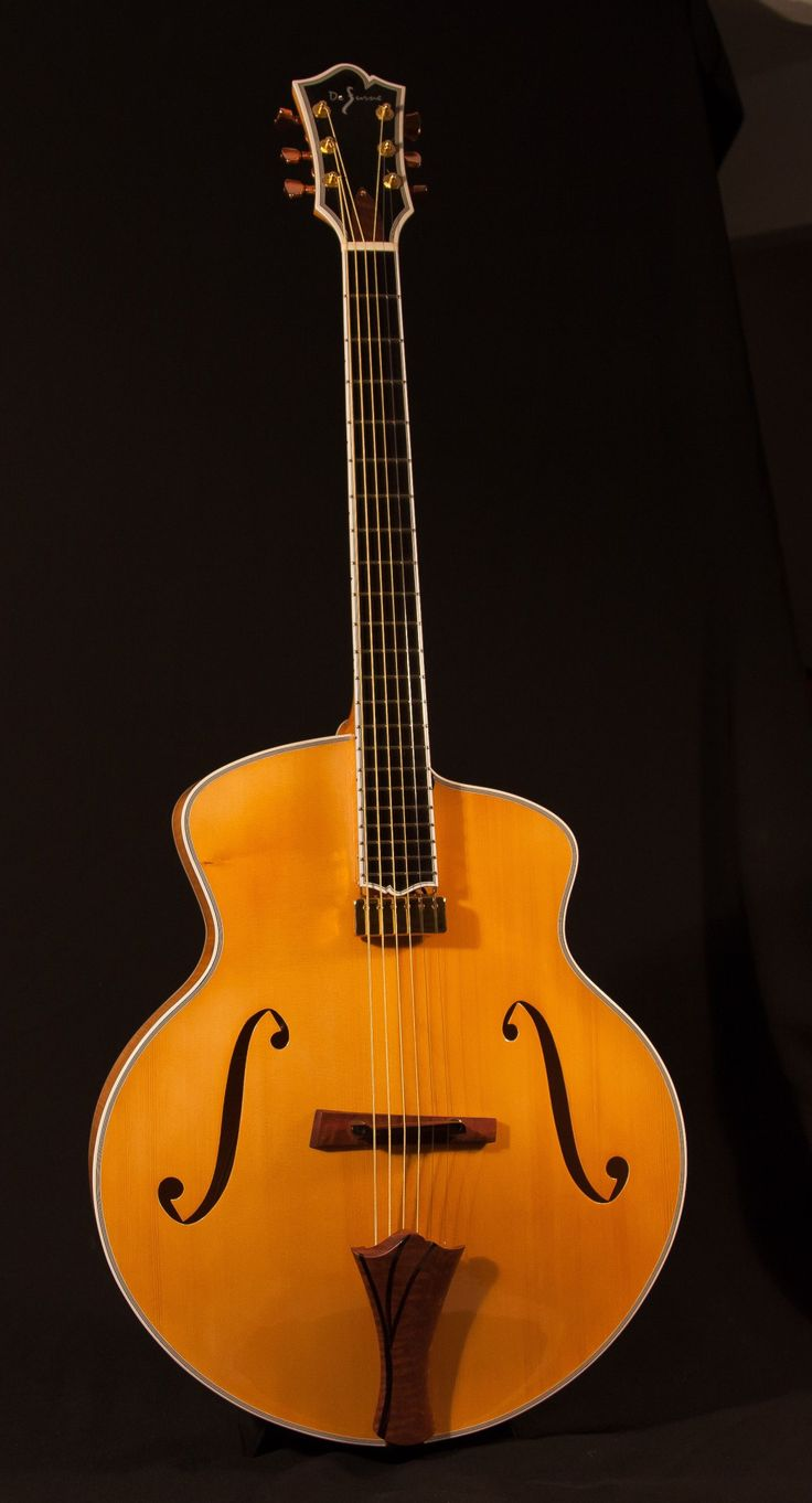 Dovetail template printable guitar - Bartok 17 Nyc Archtop Guitar By Defurne Https Www