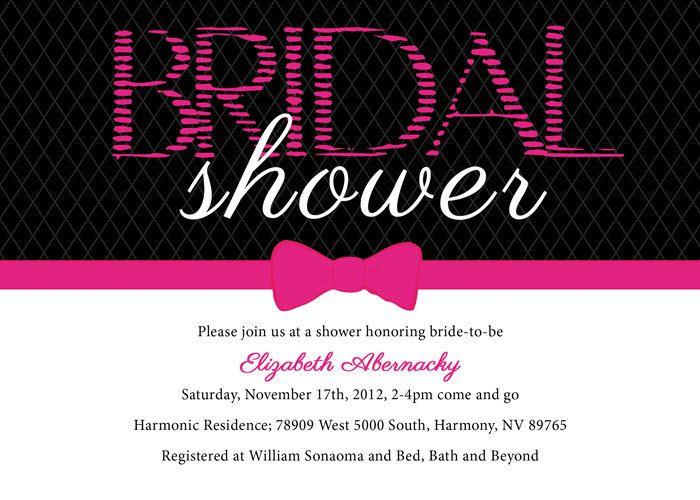 24 best Bridal Shower Invitations images on Pinterest - printable bridal shower invites