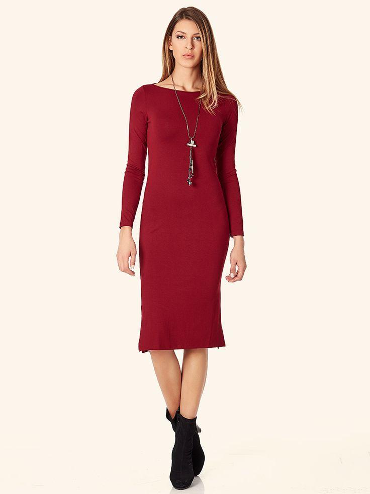 Φόρεμα με σκίσιμο στο πλάι