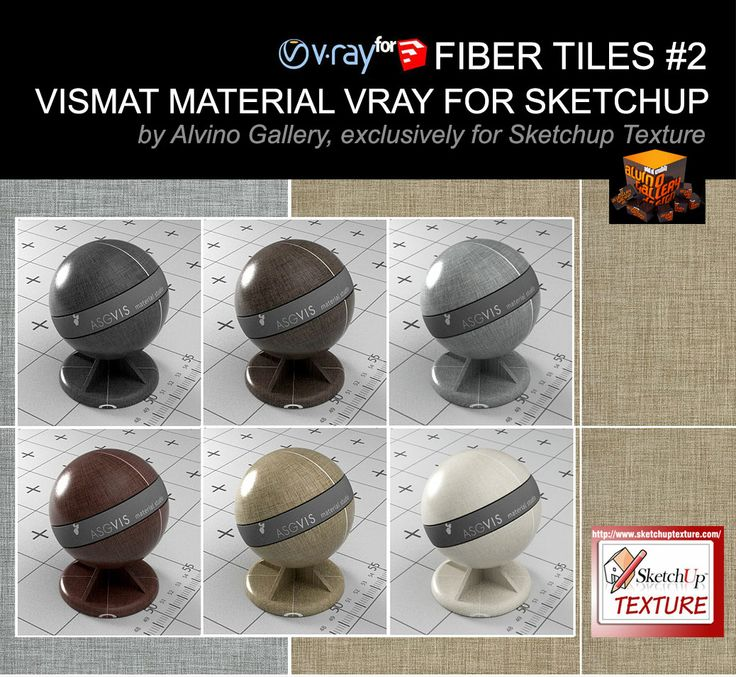 Fiber tiles Vismat material v-ray for sketchup #2, exclusively for Sketchup Texture by Alvino Gallery http://www.sketchuptexture.com/2014/06/fiber-tiles-vismat-material-v-ray-for-sketchup-2.html