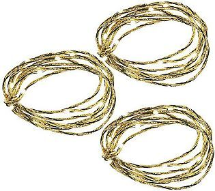 Bethlehem Lights Set of 3 Metallic Ultra Thin Light Strands - great decorating products for all seasons - indoor and outdoor