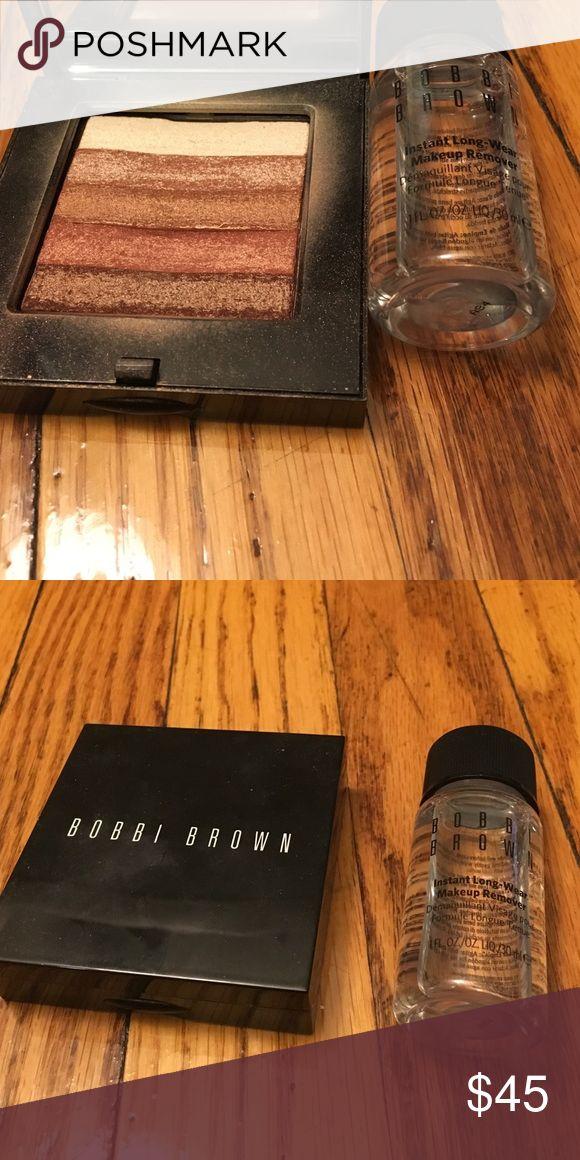 Bobbi Brown Shimmer Brick & Makeup Remover Bobbi Brown Shimmer Brick in Bronze & Makeup Remover 1 fl oz Bobbi Brown Makeup Bronzer