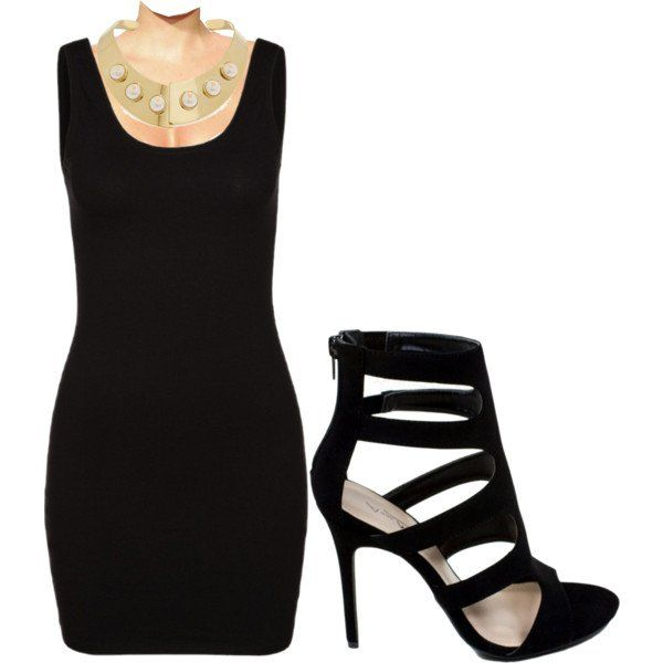 what shoes to wear with black tight dress 8