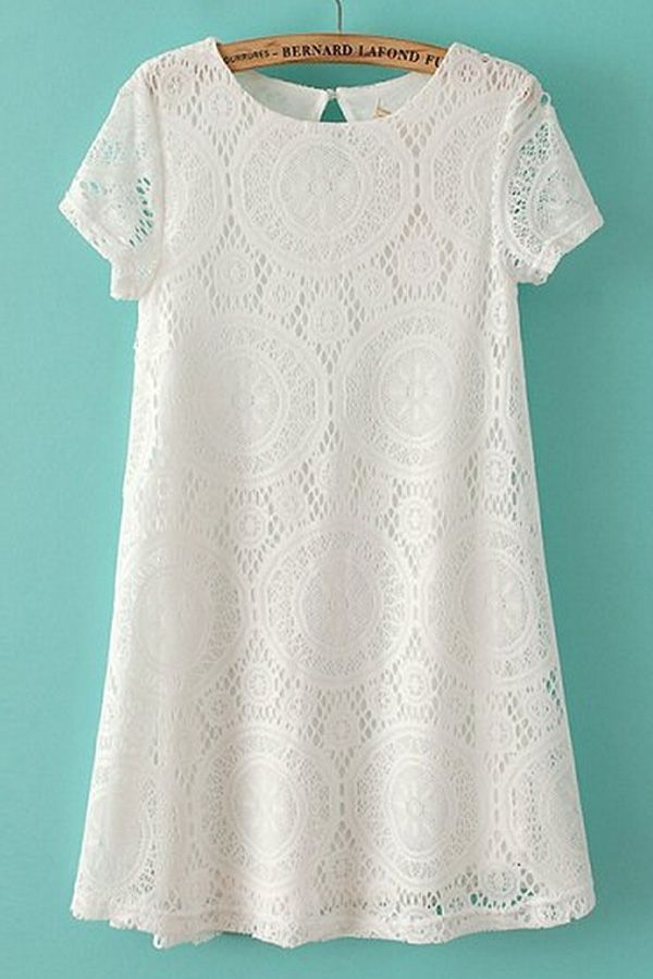 Sweet Lace Peasant Dress | OASAP
