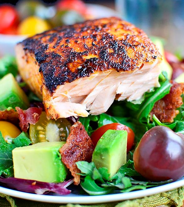 This is delicious , try this BBQ Salmon it will fill you up and it is so healthy for you.