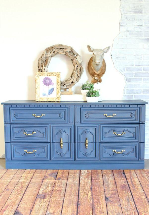 A Dresser In Navy Paint   Painted Furniture   Refunk My JunkRefunk My Junk