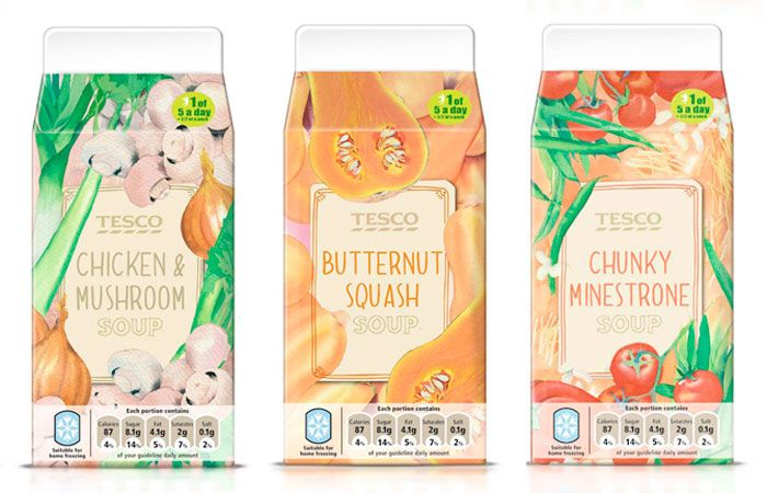 Packaging of the World: Creative Package Design Archive and Gallery: Tesco Fresh Soup