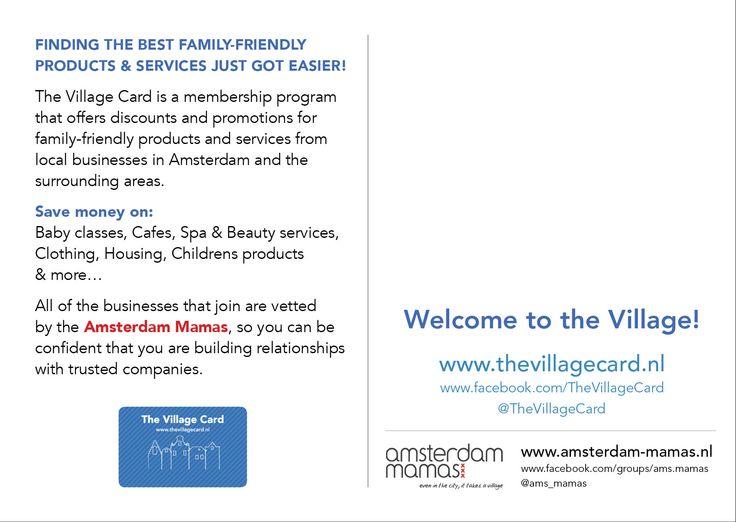 The Amsterdam Mamas - The Village Card postcard (Back)