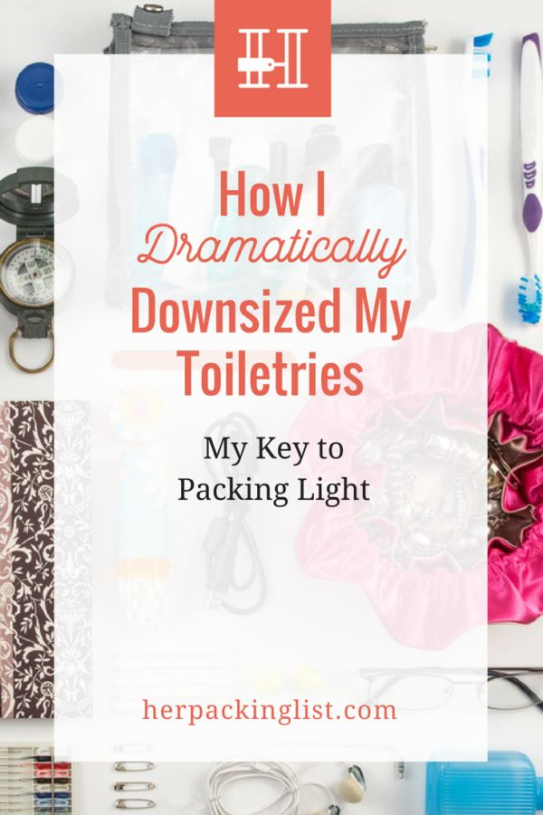 If you've cut back on clothes and shoes and still feel like you can't pack light, take a good, hard look at your toiletries. Simone found that cutting back with the help of tiny bottles and tubes was the key towards finally packing light!