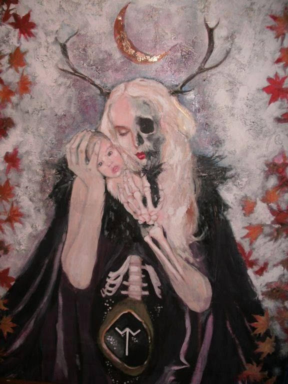 Dia da deusa nórdica Hella ou Hel, a senhora de Niflhein, o mundo subterrâneo formado por gelo e fogo vulcânico.