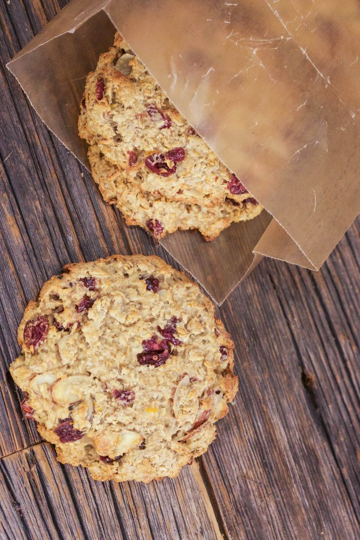 A healthy and easy way to get your oatmeal fix: Giant breakfast cookies with cranberries and almonds.