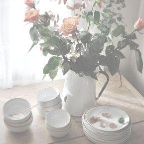 Plain, simple white stoneware tableware.#stoneware #tableware #plates #bowls #handmade