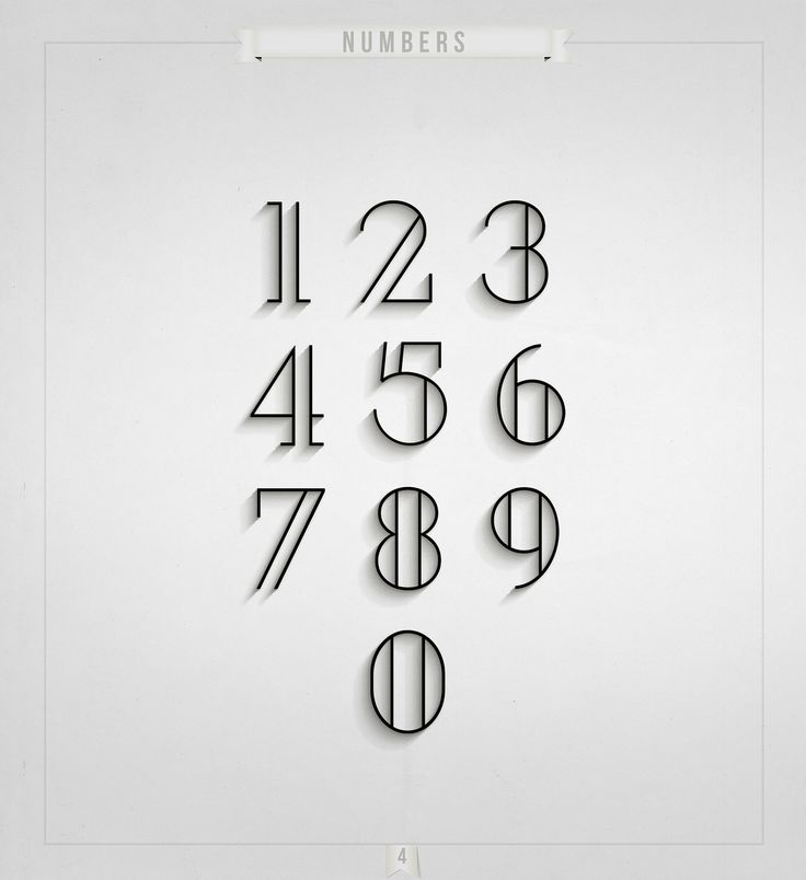 The Alphabet And Numeral System Vectors: Numbers Typography, Modern Fonts Free
