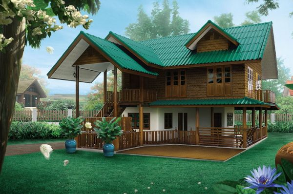 342 besten idea home bilder auf pinterest kleine h user for Traditionelles thai haus
