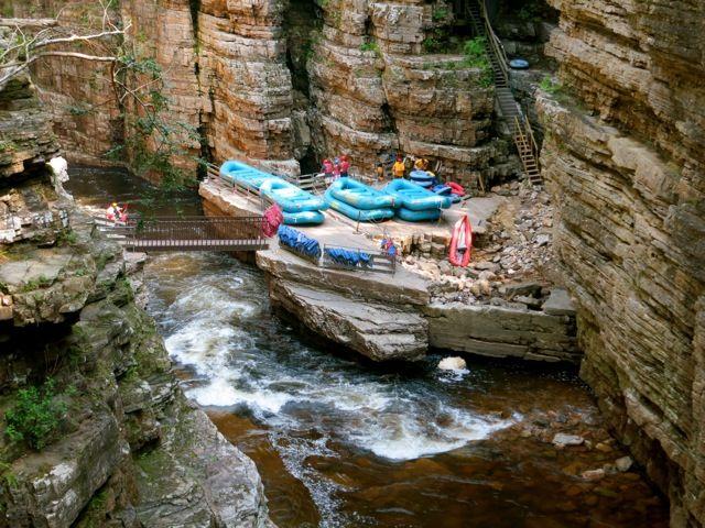 Adirondack mountains - white water rafting  start point