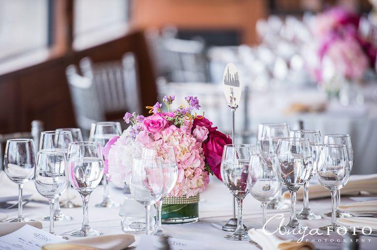 NJ Wedding Photographer, wedding center pieces, pink center piece, peonies center piece