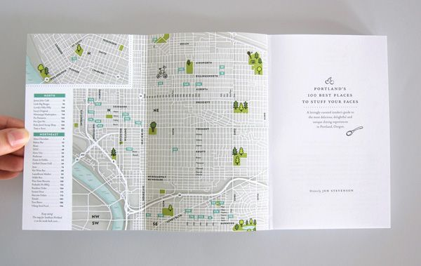 Portland's 100 Best Places to Stuff Your Faces book designed by Bureau of Betterment, Mette Hornung Rankin