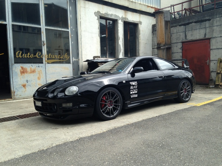 Toyota Celica GT4 With Gram Light Wheels And HKS Exhaust