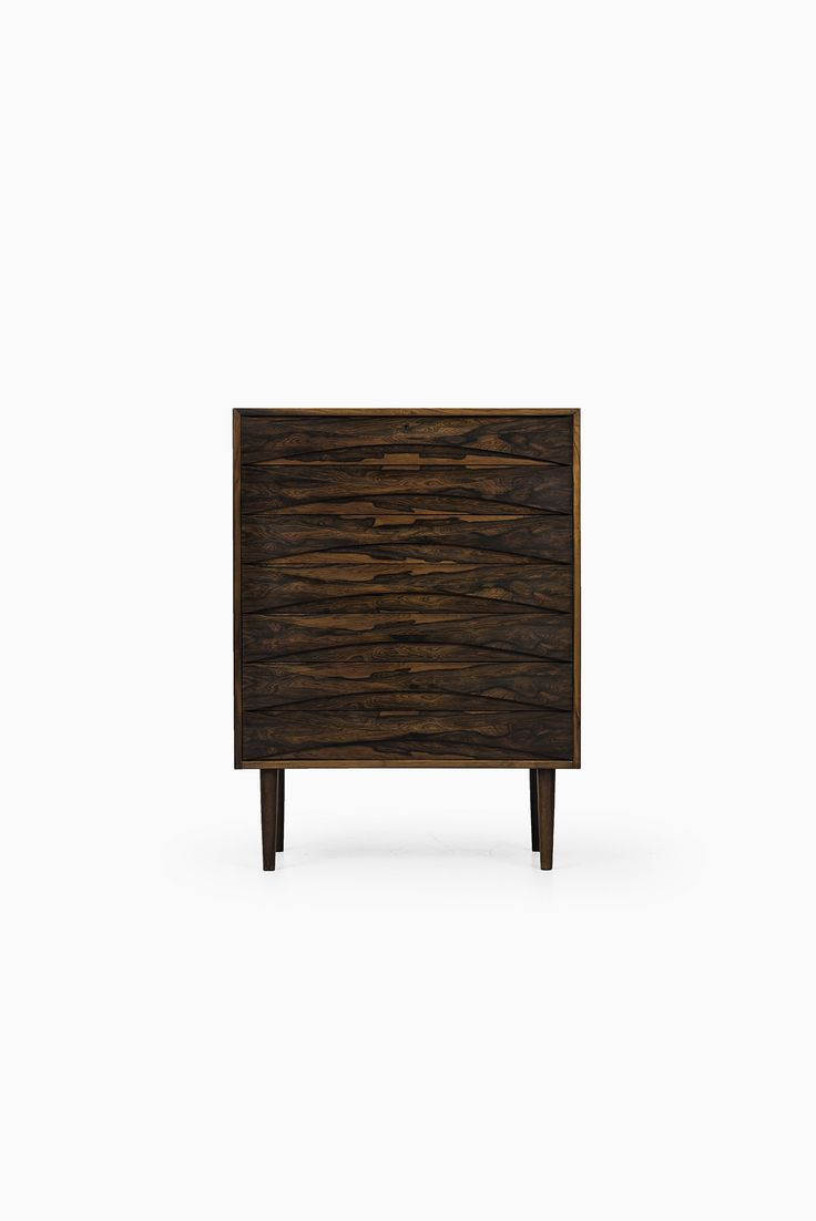 Pair of vintage danish rosewood and brushed steel side cabinets ref - Rare Chest Of Drawers In Rosewood Designed By Arne Vodder And Produced By N C M Bler In Denmark