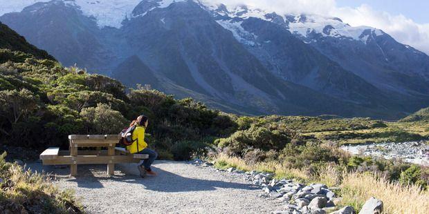 The Hooker Valley Track in Mt Cook National Park is a popular day walk. Photo / Jessica Van Fleteren