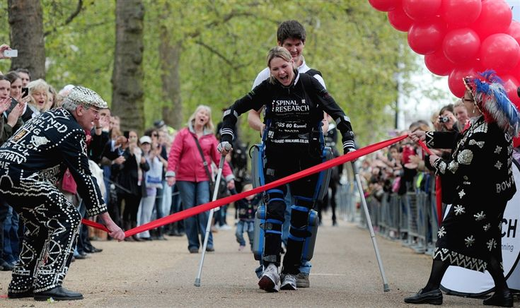 Paralyzed athlete completes marathon in sixteen days with bionic legs