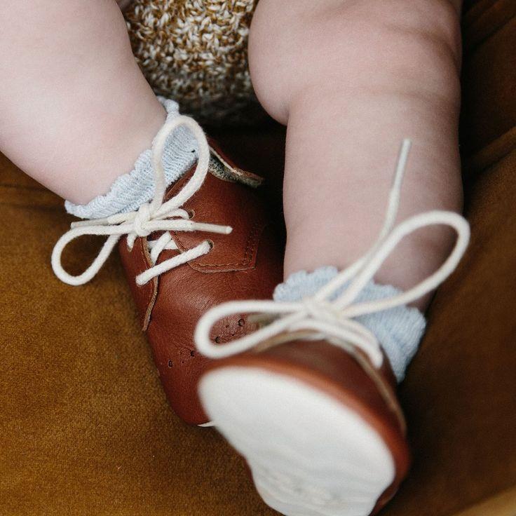 Brogue Buddy Baby Padder - Cinnamon - 17 (UK 1.5) - 21 (UK 4.5)