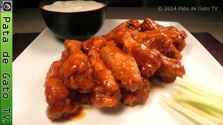 Alitas de pollo picantes caseras y paso a paso / Hot buffalo wings, homemade and step by step. https://www.youtube.com/watch?v=DH_5A70hBGA