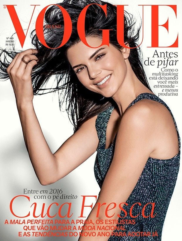 Kendall Jenner on Vogue Brazil January 2016 cover shoot