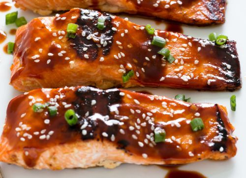 Recette de filet de saumon au miel et sriracha!