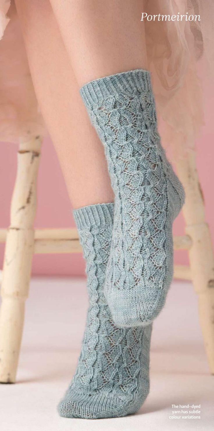 Вязаные носки Portmeirion   на сайте Вяжи.ру описнаие